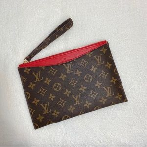Louis Vuitton Red Pallas Beauty Handbag